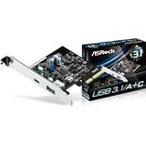 ASRock USB 3.1/A+C 2 Port PCIe 2.0 x4 retail