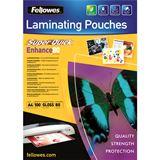 Fellowes Laminierfolie SuperQuick A4 glänzend 80 Mikron