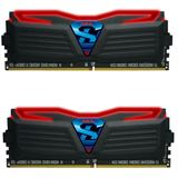 16GB GeIL Super Luce schwarz LED rot DDR4-3000 DIMM CL16 Dual Kit