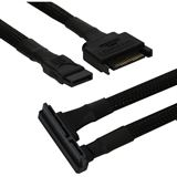 0,45m Nanoxia SATA Kombi Kabel abgewinkelt schwarz
