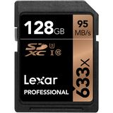 128 GB Lexar Professional SDXC 633x Class 10 U3 Retail
