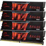 16GB G.Skill Aegis DDR4-2400 DIMM CL15 Quad Kit