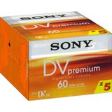 SONY Videocassette miniDV 60Min (5-Pack)
