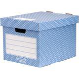 Fellowes BANKERS BOX STYLE Archiv-/Transportbox, blau/weiß