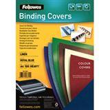 Fellowes Deckblatt Linen, Leinenstruktur, DIN A4, royalblau