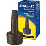 Pelikan Stempelfarbe 4 K 28 ml Verstreicherflasche schwarz