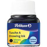 Pelikan Tusche A, Inhalt: 10 ml im Glas, schwarz (17)