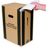 smartboxpro Papierkorb aus Karton, 35 Liter, braun