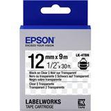 Epson TAPE - LK4TBN CLEAR BLK/
