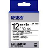 Epson Tape LK4WBB MATTE PAP BLK/