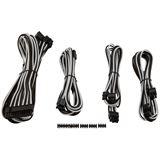 Corsair Premium Sleeved Kabel-Set - weiß/schwarz