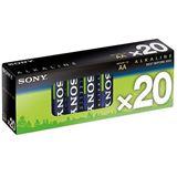 Sony Stamina Plus LR6 Alkaline AA Mignon Batterie 1.5 V 20er Multipack