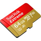 64 GB SanDisk Extreme R100/W60 microSDXC Class 10 UHS-I A1 Retail inkl. Adapter
