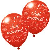 """Susy Card Luftballons """"Just married"""", rot"""