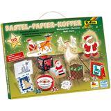 """Folia Bastelpapier-Koffer """"Weihnachten II"""", 110-teilig"""