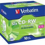 Verbatim CD-RW 700 MB Kratzfest 10er Jewelcase (43148)