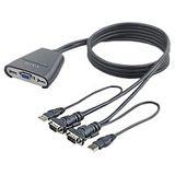 Belkin F1DK102Uea 2-fach Kabel KVM-Switch