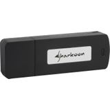 2GB Sharkoon Flexi Drive EC2 Series Schwarz USB 2.0 Stick