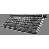 Perixx Periboard 402 Mini Tastatur Schwarz Deutsch PS2/USB