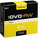 Intenso DVD-RW 4.7 GB wiederbeschreibbar 10er Slimcase (4201632)