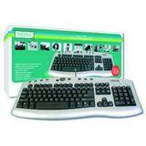 Digitus DA-20145 Tastatur Silber Deutsch USB