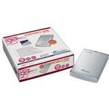 "500GB Plextor Portable 2.5"" (6.35cm) Silber USB2.0"