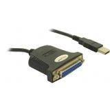 Delock Adapter USB zu Parallel 25-polig schwarz 90cm