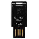 4GB Kingston DataTraveler Mini Slim schwarz USB 2.0