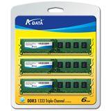 6GB ADATA Value DDR3-1333 DIMM CL9 Tri Kit