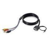 LevelOne Kabel RCA für für Player an AVE-9300 0,7m