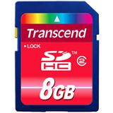 8 GB Transcend Standard SDHC Class 2 Bulk