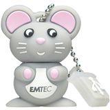 4 GB EMTEC M312 Mouse schwarz/silber USB 2.0