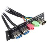 Silverstone 2x USB 3.0/Audio/FireWire Upgrade Montagekit für SG02 (G11303590)