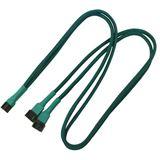 Nanoxia 60 cm grünes Y-Kabel für 3-Pin Molex (NX3PY60G)