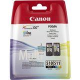 Canon Tinte CL-511 Multipack 2970B011 farbig