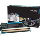 Lexmark Toner cyan Rück. f.X746/X748