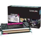 Lexmark Toner magenta Rück. f. X746/