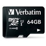 64 GB Verbatim microSDXC Class 10 Retail