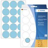 Herma 2273 blau rund Vielzwecketiketten 3.2x3.2 cm (32 Blatt (480 Etiketten))