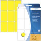 Herma 2471 gelb Vielzwecketiketten 3.4x5.3 cm (32 Blatt (288 Etiketten))