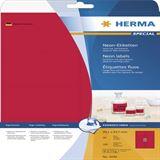 Herma 5046 neon-rot Universal-Etiketten 9.91x6.67 cm (20 Blatt (160 Etiketten))