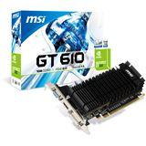 1GB MSI GeForce GT 610 LP V1 Passiv PCIe 2.0 x16 (Retail)
