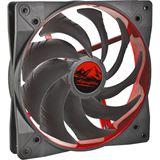 EKL Wing Boost 2 140x140x25mm 300-1200 U/min 19.6 dB(A) schwarz/rot