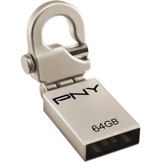 64 GB PNY Hook Attache silber USB 2.0