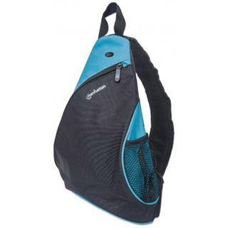 """Manhattan Notebook Rucksack Dashpack bis 12"""" schwarz/blau"""