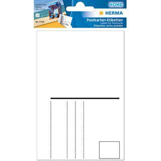 HERMA Postkartenetiketten, 95 x 145 mm, weiß