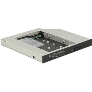 DeLOCK Einbaurahmen Slim SATA 5Œ für 1x M.2 / 1x mSATA SSD