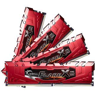 32GB G.Skill Flare X rot DDR4-2400 DIMM CL15 Quad Kit