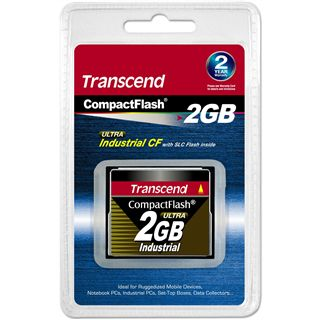 2 GB Transcend Industrial Ultra Compact Flash TypI 100x Bulk