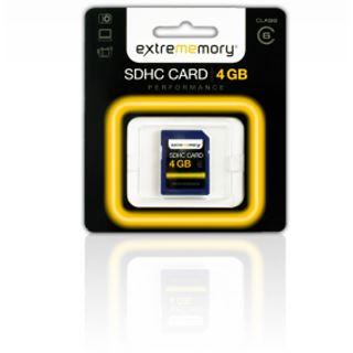 4 GB Extrememory Performance SDHC Class 6 Retail